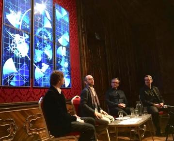 Infinite Time Machine - exhibition view with AROTIN & SERGHEI, Dominique Renaud and Luigino Torregiani, W & K Palais Vienna 2017