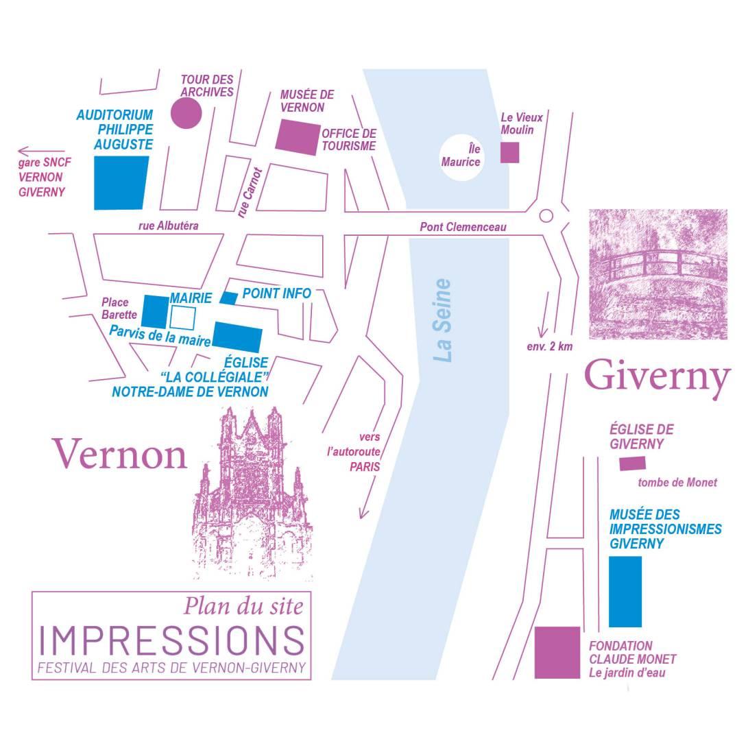 FESTIVAL DES ARTS VERNON GIVERNY PLAN DU SITE 02